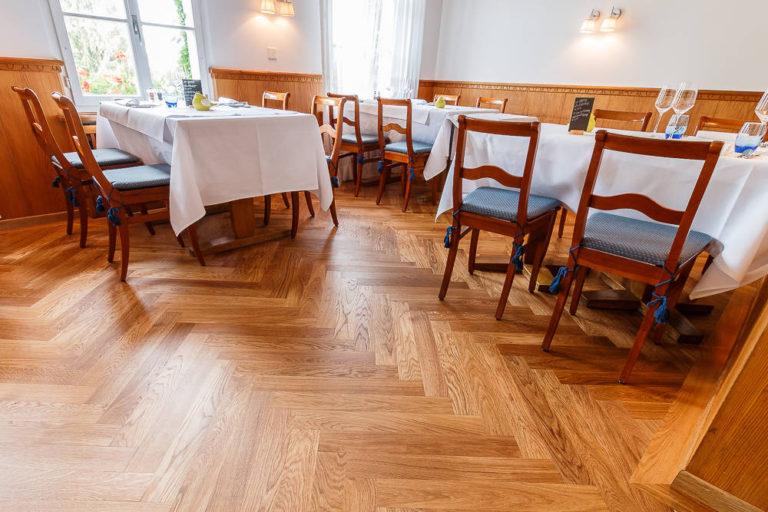 Holzparkett - Restaurant 3 Fische in Lüscherz